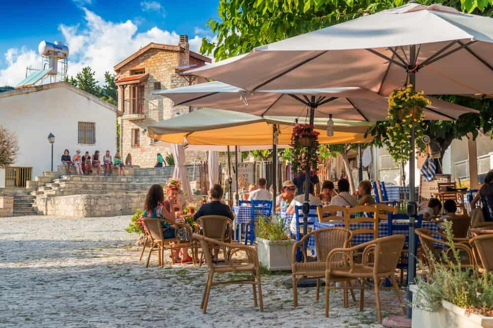 Omodos village Cyprus