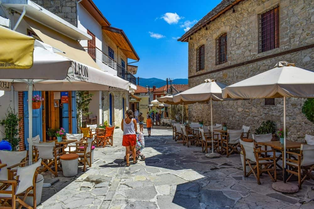 Omodos - a pretty Cyprus village in a wine-making region