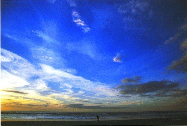 Ciel Baie de Somme avec couple-comdesimages