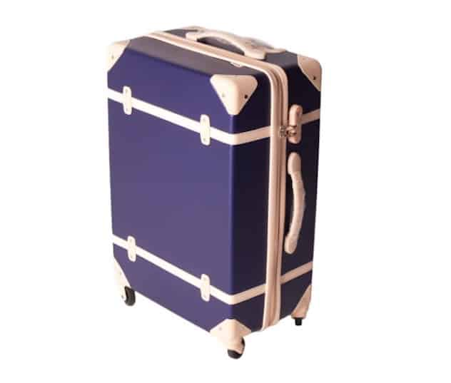 BTM Hard Shell Retro Vintage Cabin Luggage Suitcase