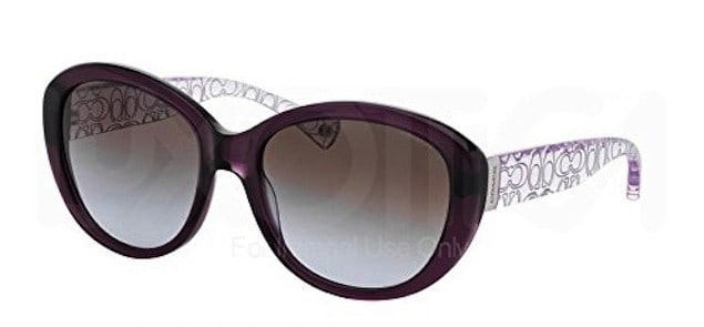 Coach Purple crystal sunglasses