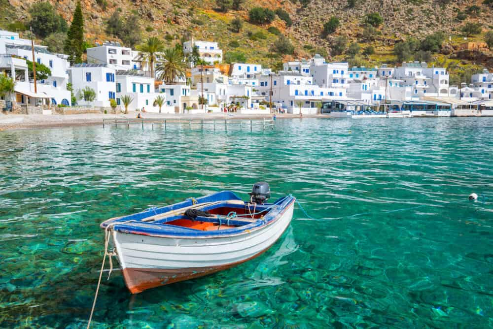 Loutro village - unpsoilt places to visit in Crete Greece