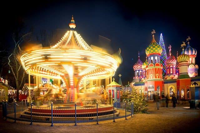 Tivoli gardens Copenhagen at Christmas