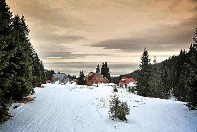 Skiing in Krkonoše