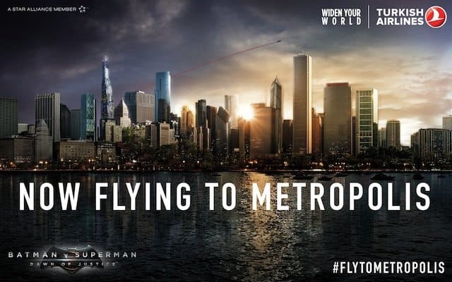 Turkish Airlines launch flights to Gotham city and Metropolis! Global Grasshopper