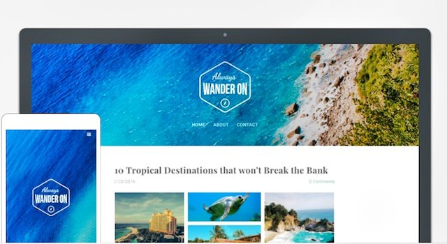 Travel blog weebly theme