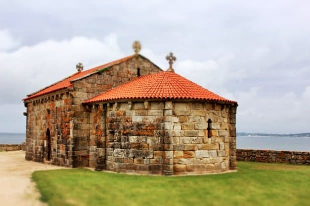The Chapel of Nosa Señora de Lanzada, built where the ancient pagan ritual stone used to lie.