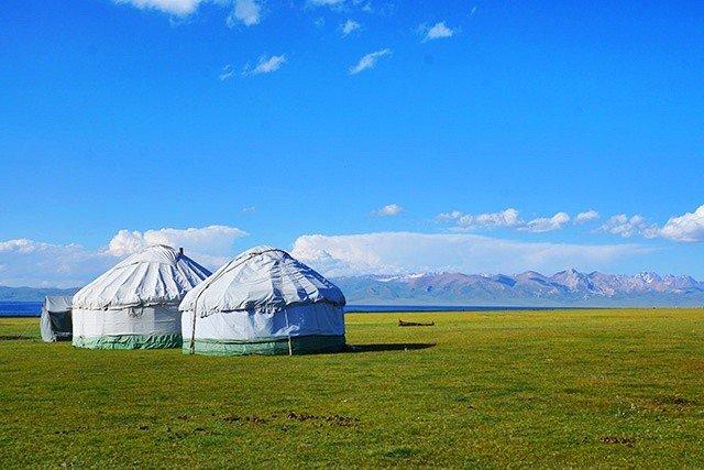2. yurts in kyrgyzstan
