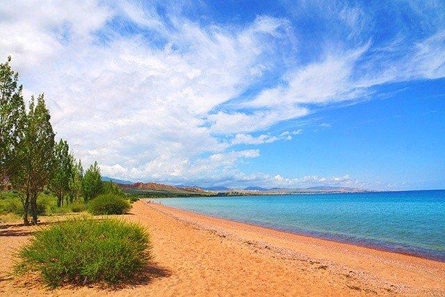 5. Beach issyk-kul lake kyrgyzstan