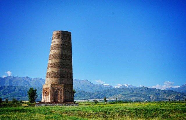 title - burana tower kyrgzystan