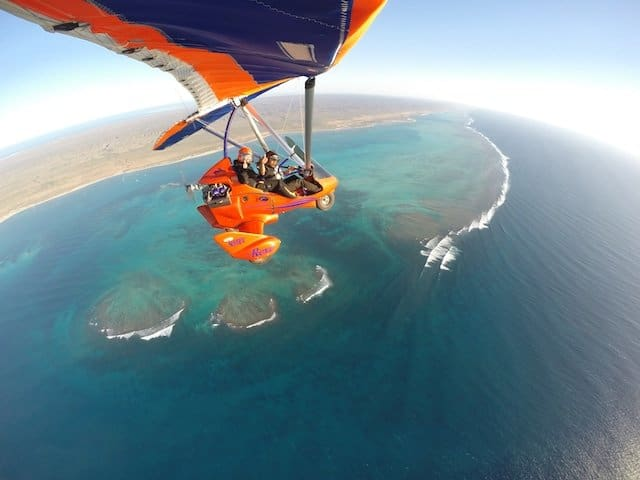 Microlight flight with-Birds Ningaloo Reef