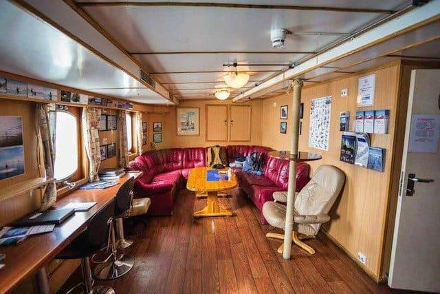 inside boat