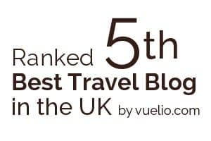 Ranked 5th best travel blog in the UK