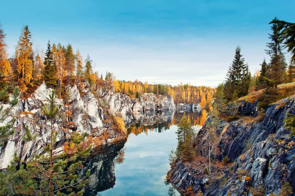 Ruskeala - one of the most beautiful places to visit in Russia