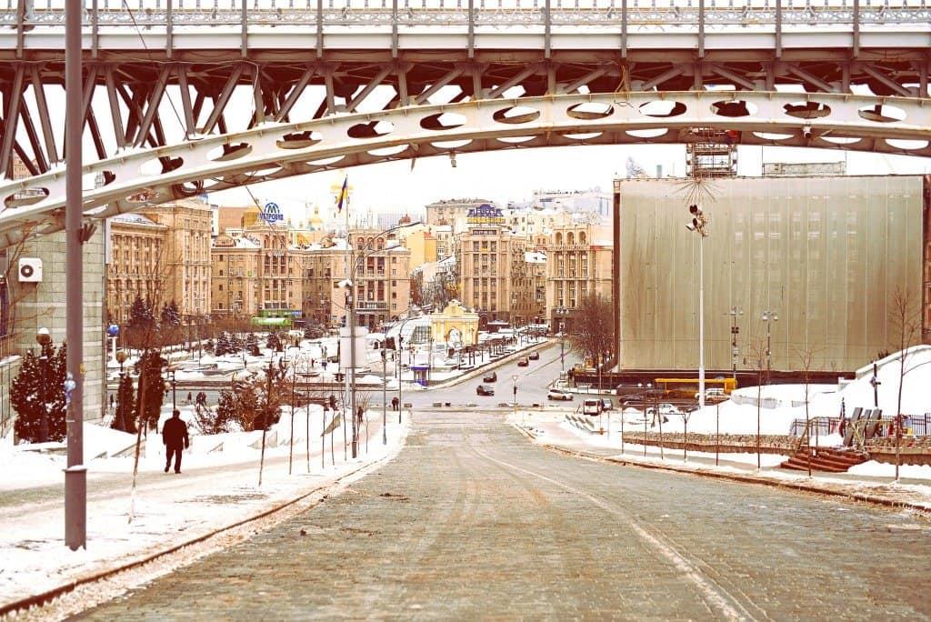 Winter in Kiev Ukraine