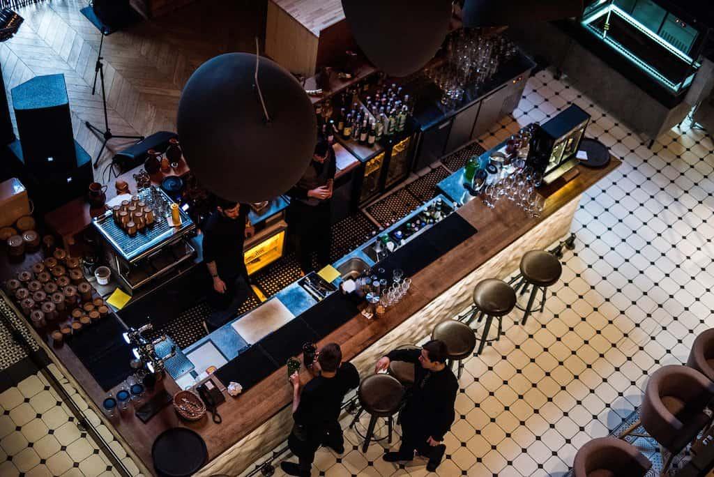 Trendy bar in Kiev Ukraine