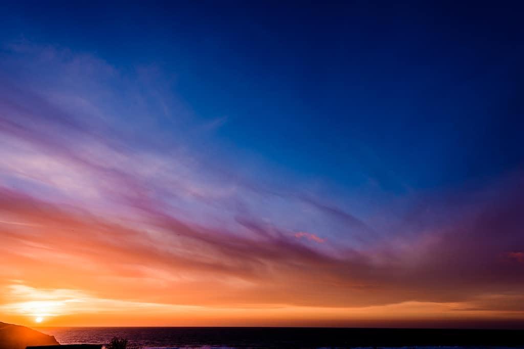 Lusty Cove Sunset Cornwall