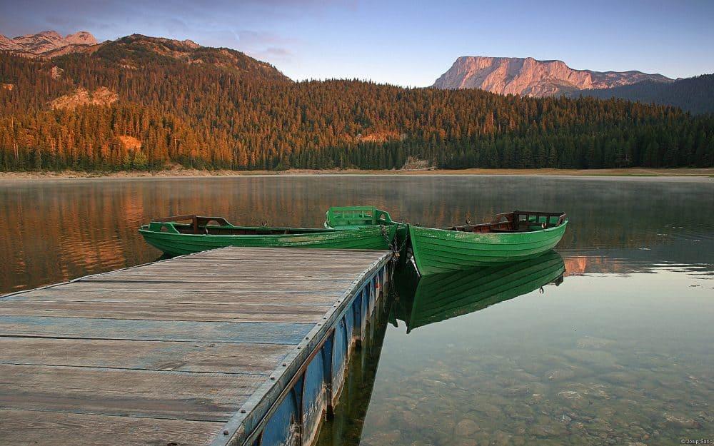 Black Lake in Durmitor National Park Montenegro