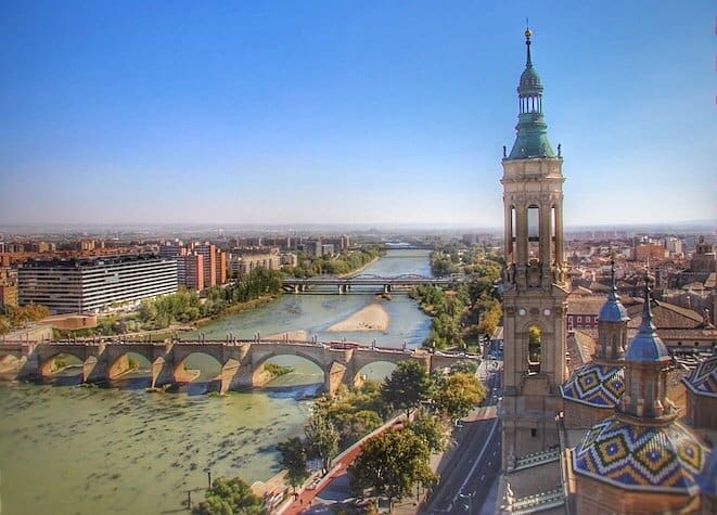 Zaragoza city in Spain