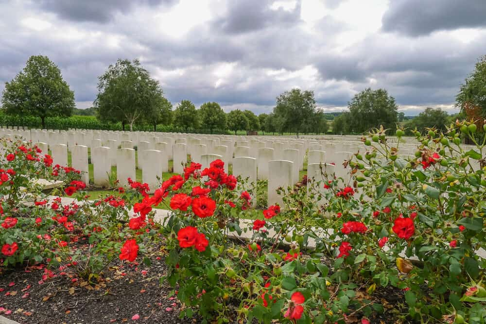 Ypres graves in Belgium