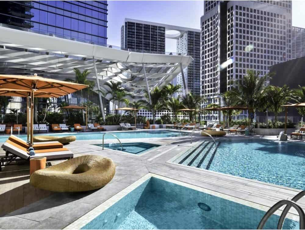 Cool hotel pool Miami