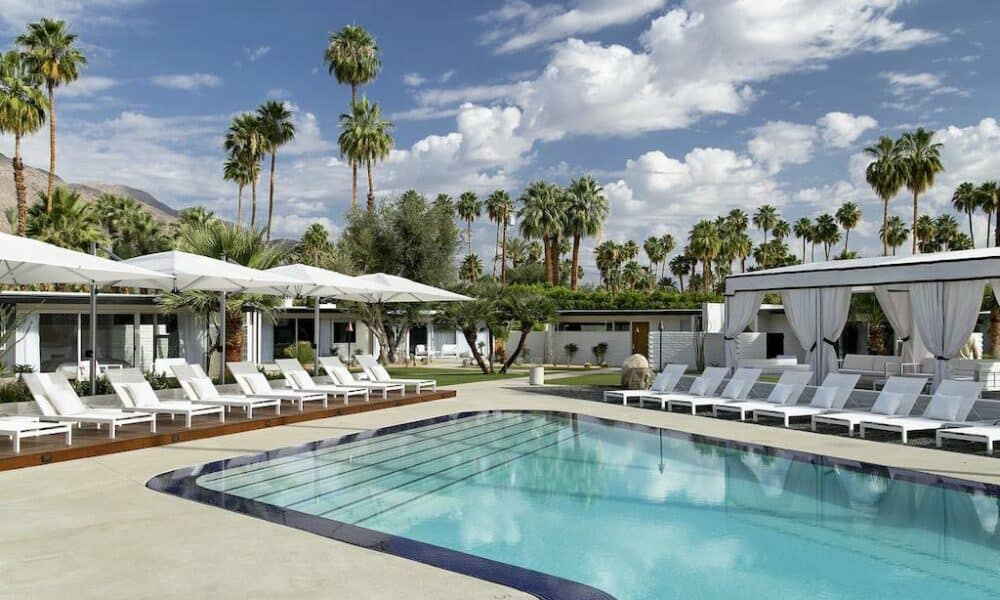 Modern hotel in Palm Springs