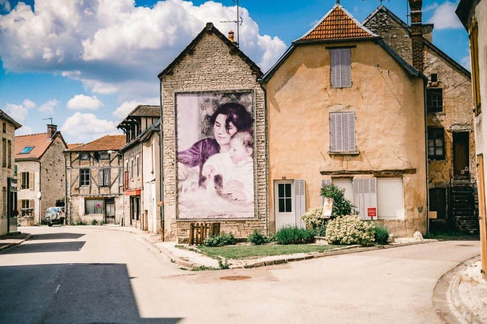 Renoir painting in Essoyes, France