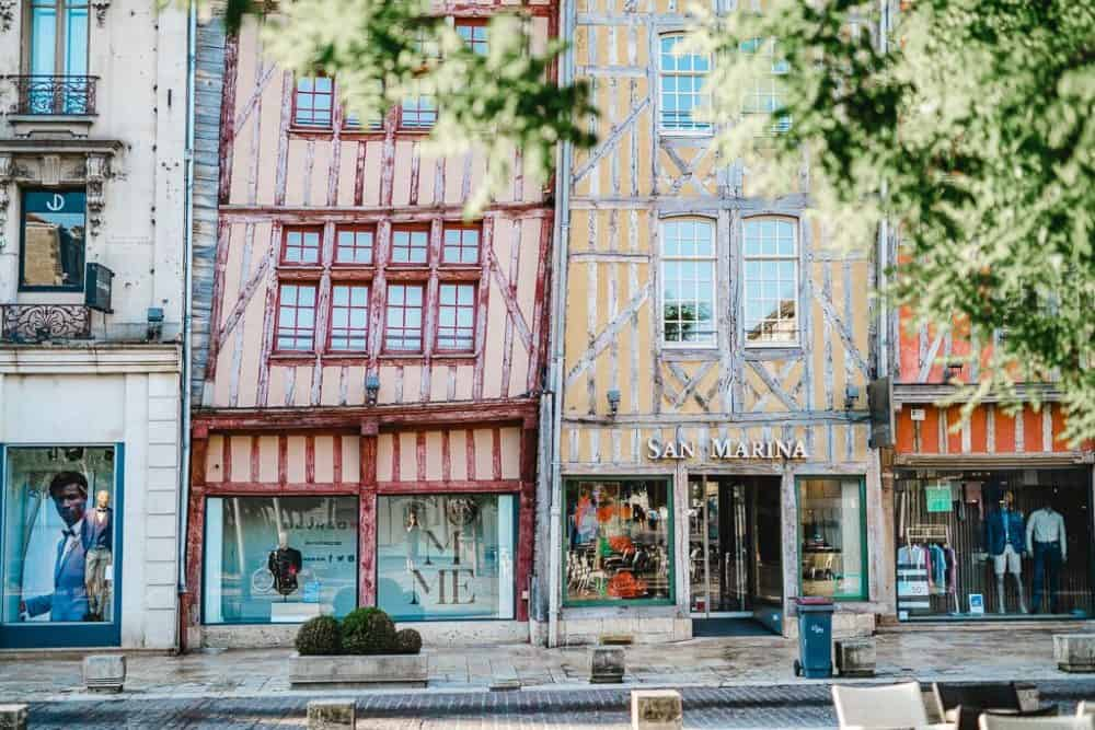 Beautiful architecture in Troyes, Champagne
