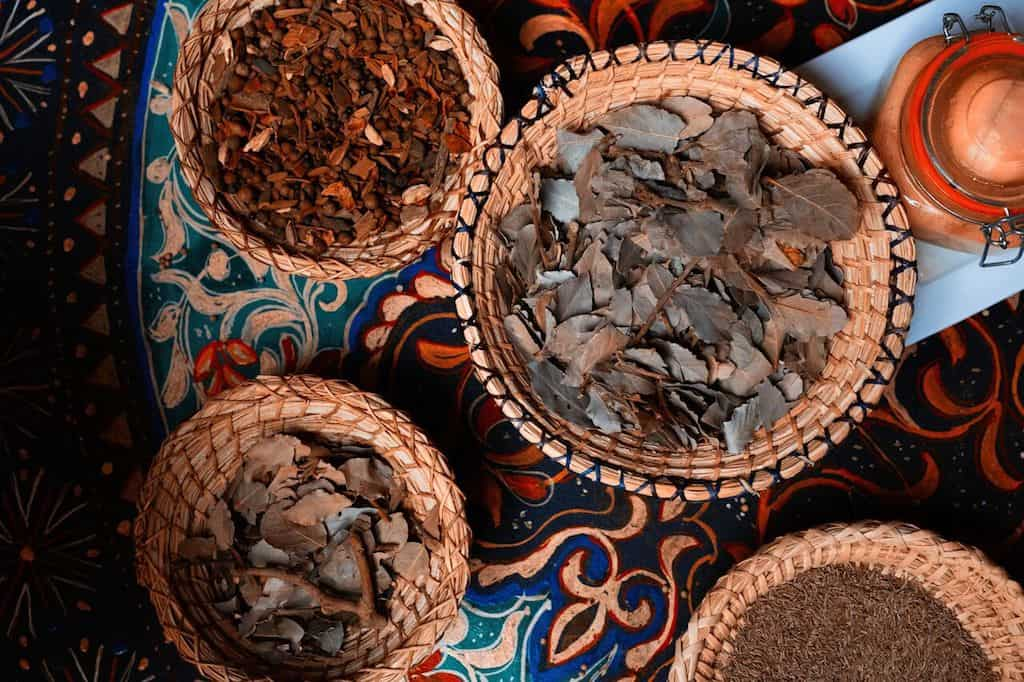 spices in market Marrakech