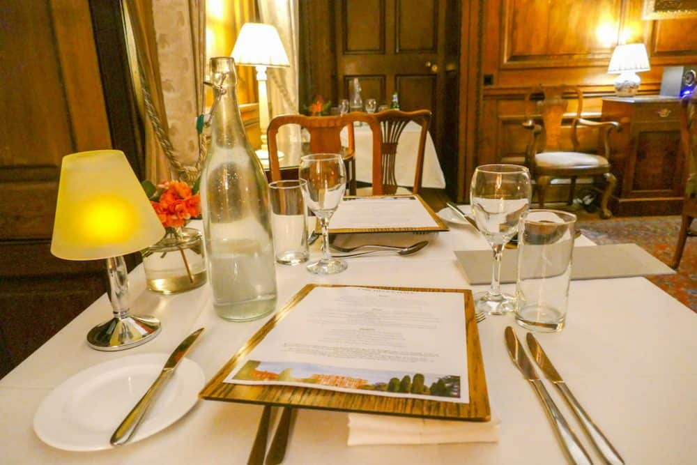 Dinner at Chicheley Hall, Buckinghamshire