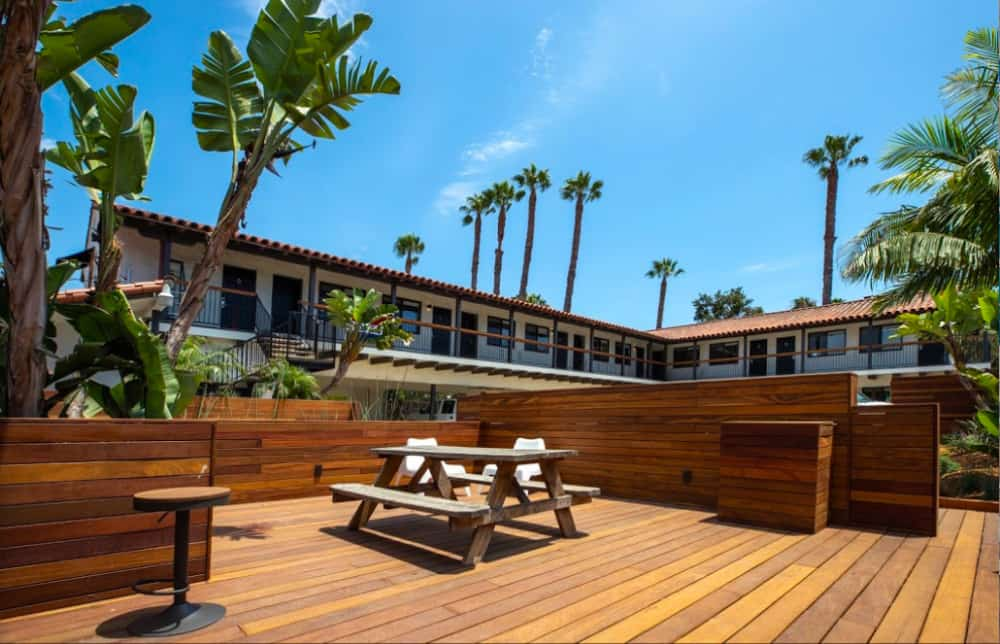A dog-friendly hotel located in the downtown area of Santa Barbara