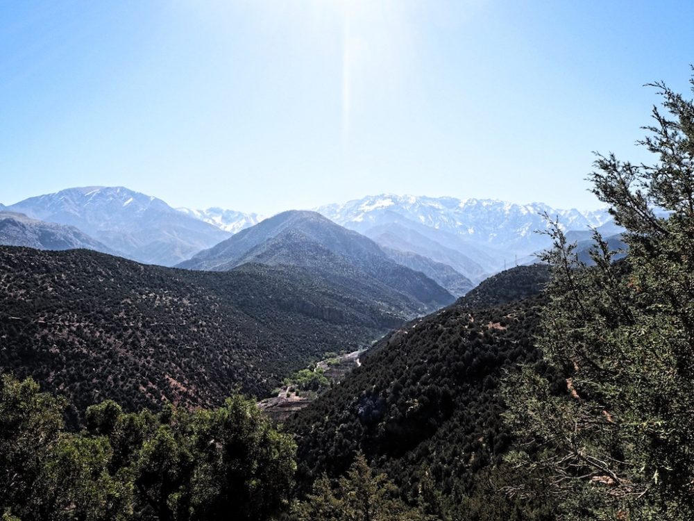 Beautiful view of the Atlas Mountains