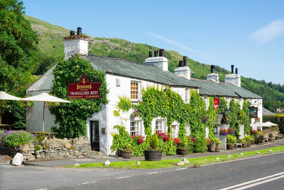 A 16th century coaching dog friendly inn on the outskirts of Grasmere village