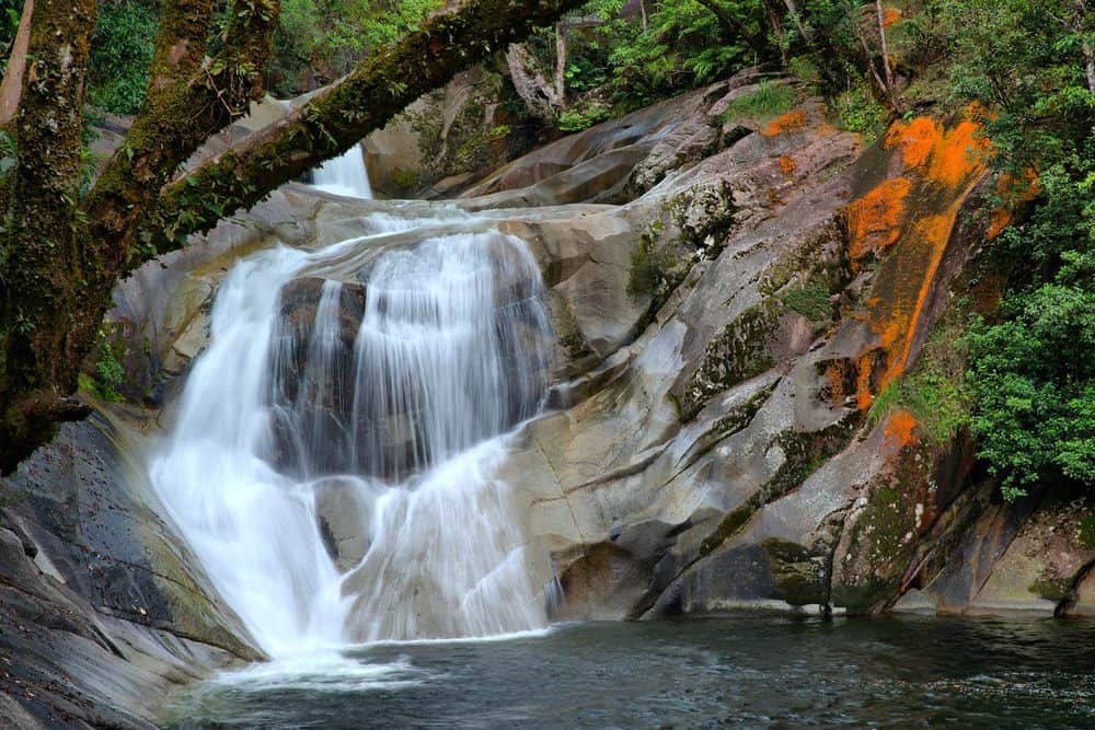 Beautiful waterfall in Cairns