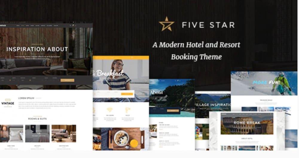 FiveStar - Hotel Booking Theme