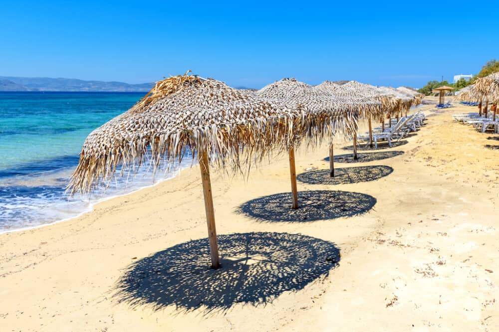 A beautiful beach on Naxos Greece