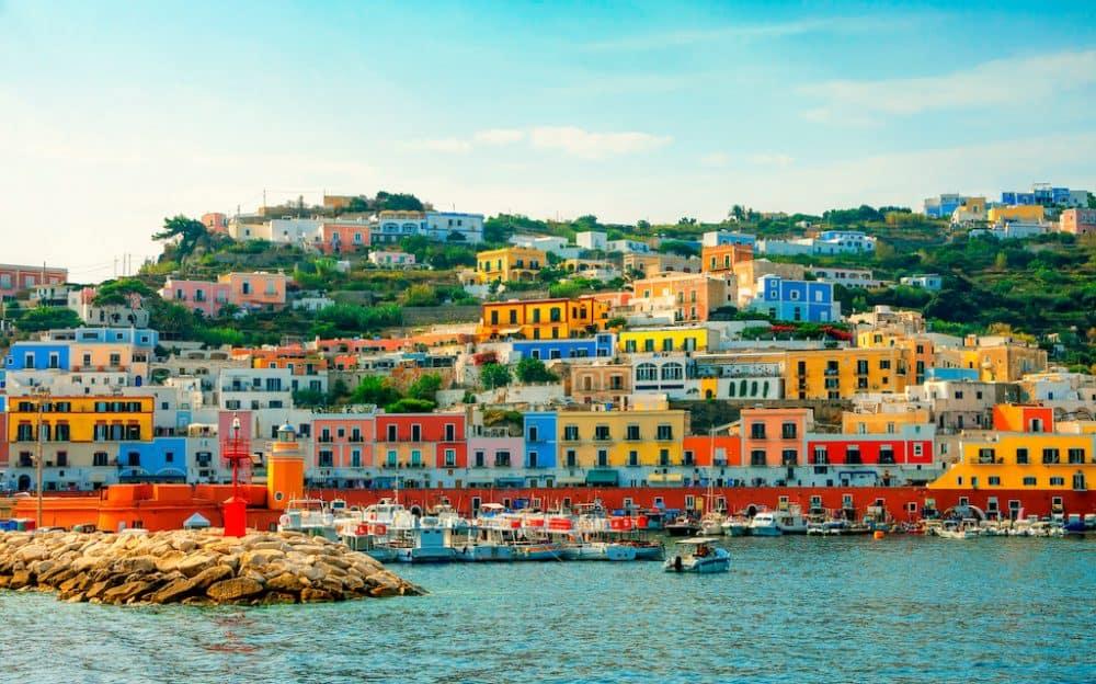 Ponza harbour Italy