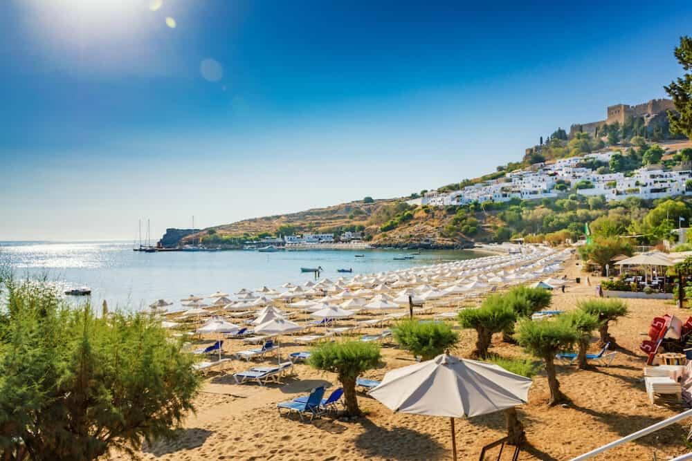 Beautiful beach on Rhodes island
