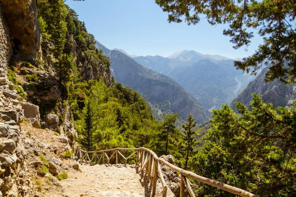 Samaria Gorge - beautiful scenery in Greece
