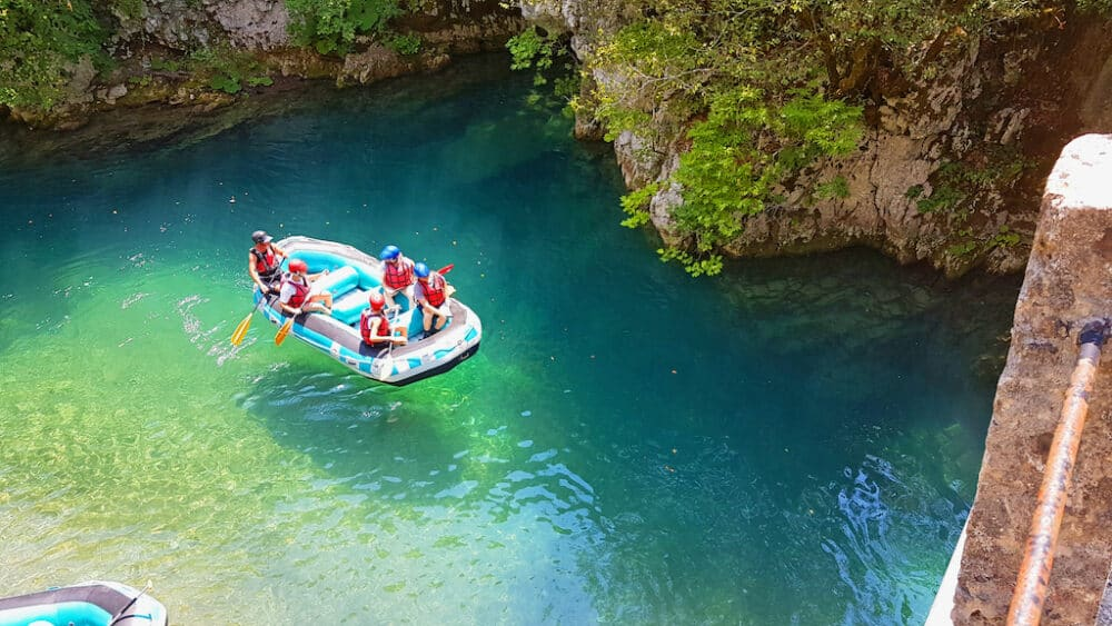 Rafting on Voidomatis River Greece