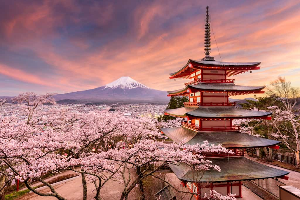 Mount Fuji - beautiful places to visit in Japan