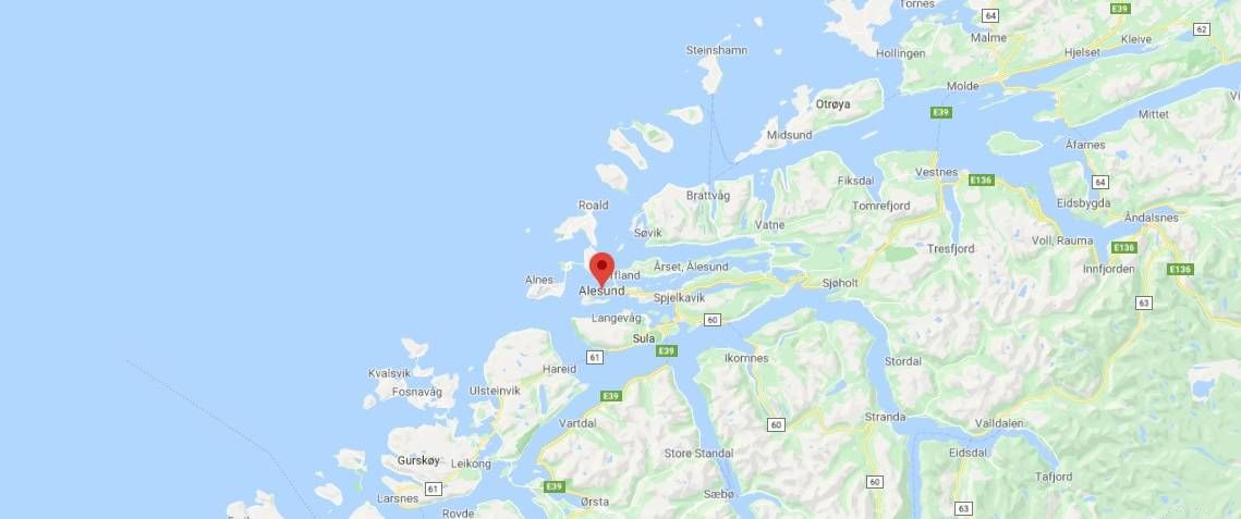 Map - where to find Ålesund