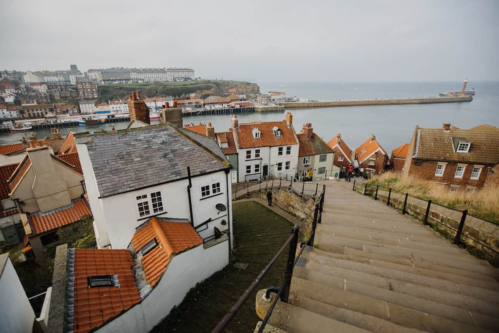 whitby from top of the hill