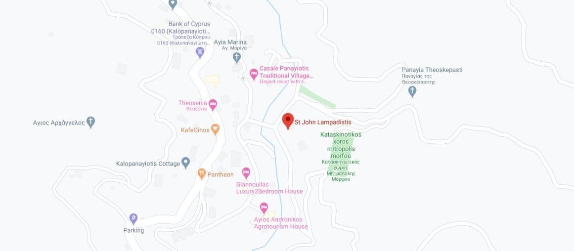 Where to find Agios Ioannis Lampadistis Monastery