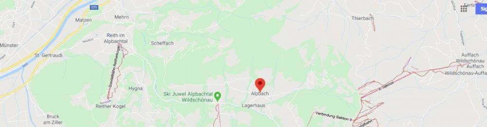 Map - where to find Alpbach Austria