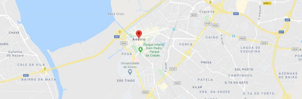 Map - where to find Aveiro
