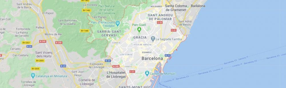 Map - where to find Barcelona in Spain