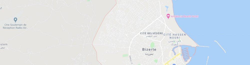 Map - where to find Bizerte