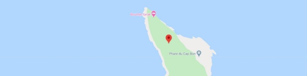 Map - where to find Cape Bon