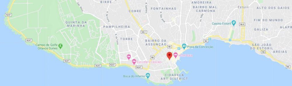 Map - where to find Cascais